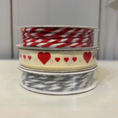 Ribbon Pack: Red Heart/Red Twine/Grey Twine