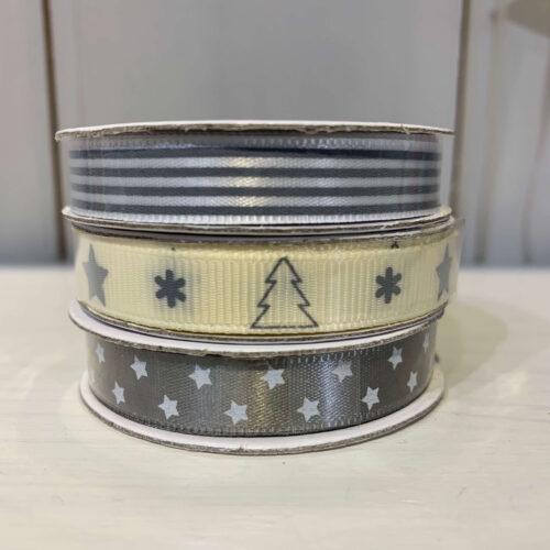 Ribbon Pack: Grey Star/Stripe/Christmas