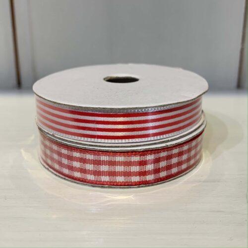 Ribbon Pack: Red Gingham/Stripe