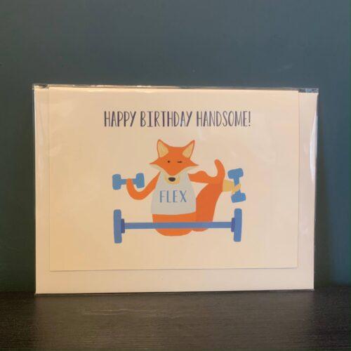 Fox Happy Birthday Handsome! Card