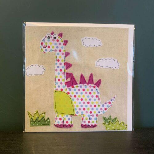 Spotty Dino Greetings Card
