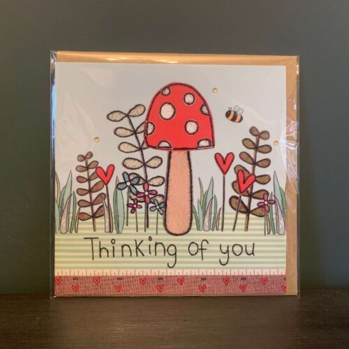 Toadstool Thinking of You Greetings Card
