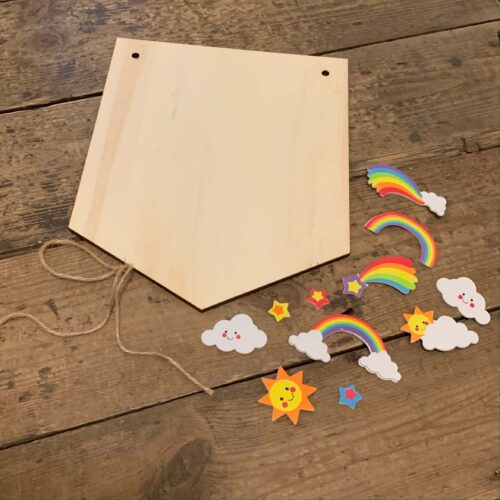 Wooden Hanging Banner Kit - Rainbow