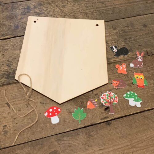 Wooden Hanging Banner Kit - Woodland