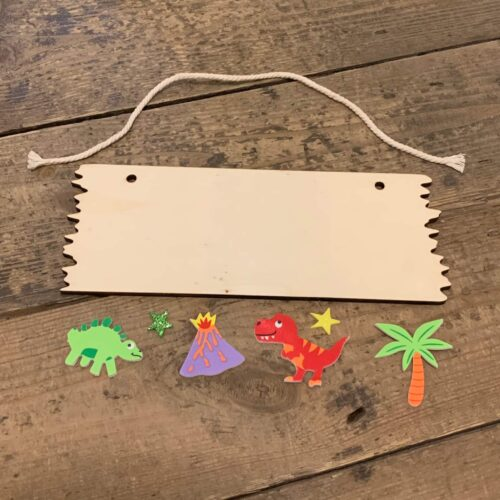 Wooden Hanging Plaque Kit - Dinosaur