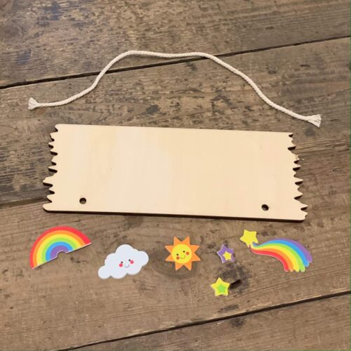 Wooden Hanging Plaque Kit - Rainbow
