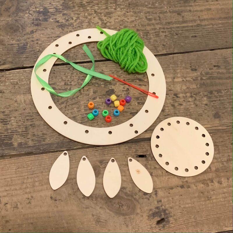 Wooden Dreamcatcher Kit: Green