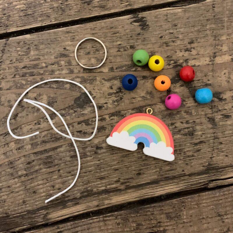 Rainbow Wooden Keyring & Bag Dangler Kit