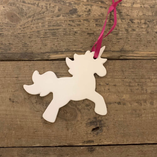 Ceramic Unicorn Decoration Kit