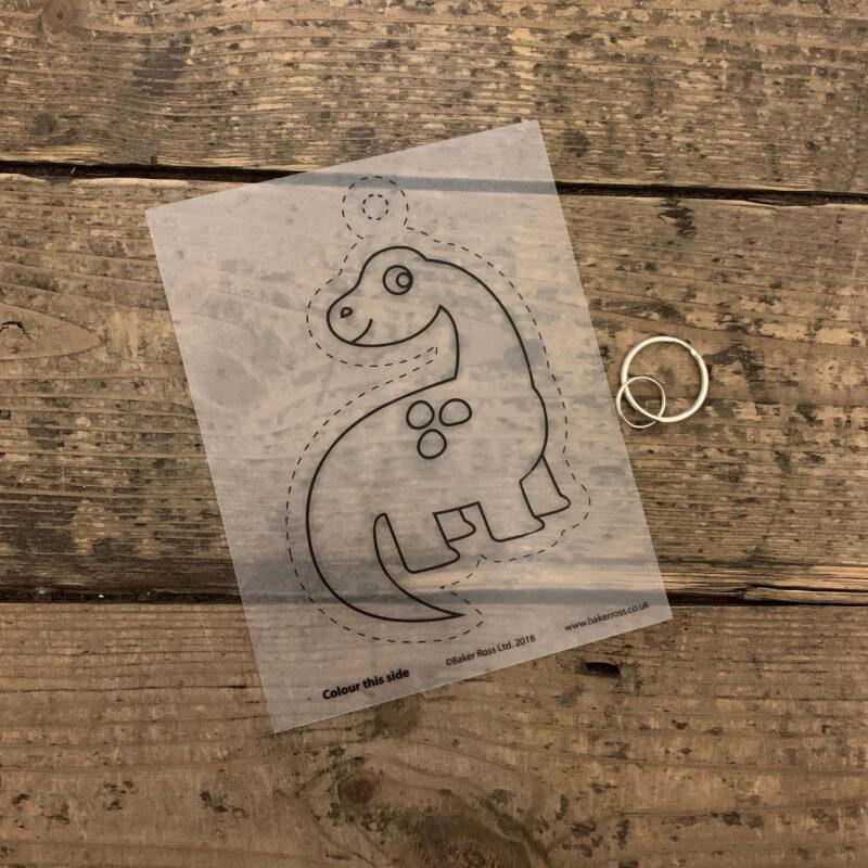 Dinosaur Super Shrink Keyring Kit