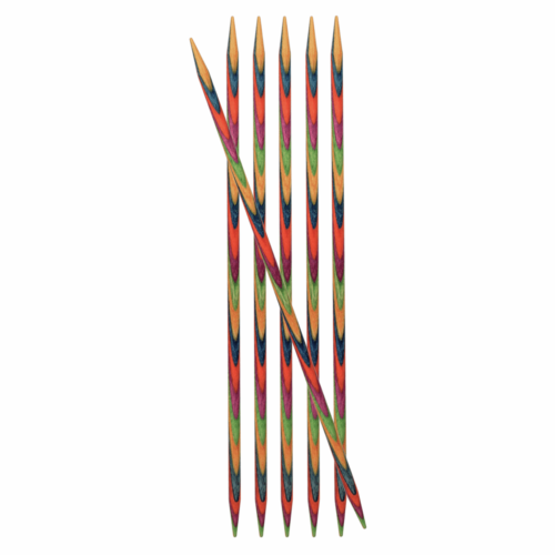 KnitPro Symfonie 15cm x 3.25mm Set of Six Double Ended Knitting Pins