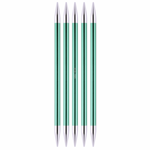 KnitPro Zing 15cm x 8mm Set of Five Double Ended Knitting Pins