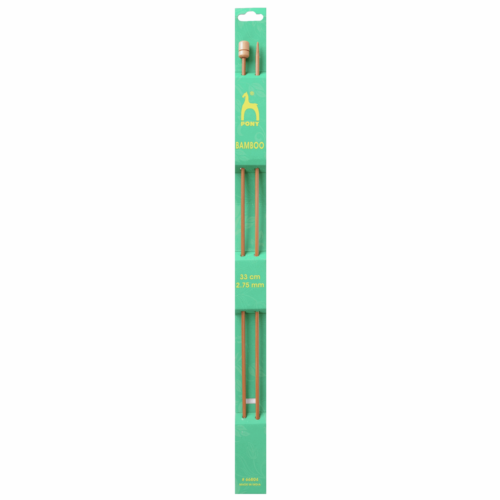 Pony Bamboo 33cm x 2.75mm Knitting Needles