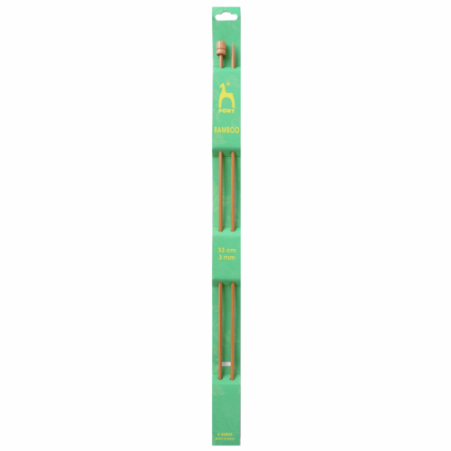 Pony Bamboo 33cm x 3mm Knitting Needles