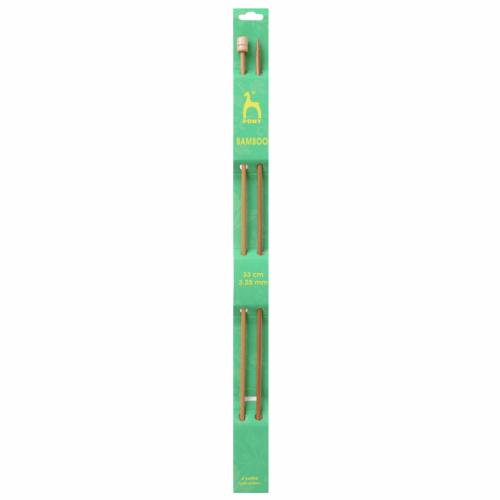 Pony Bamboo 33cm x 3.25mm Knitting Needles