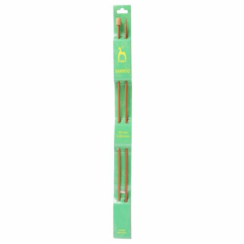Pony Bamboo 33cm x 3.5mm Knitting Needles