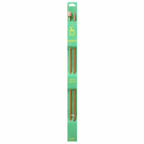 Pony Bamboo 33cm x 3.75mm Knitting Needles