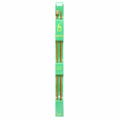 Pony Bamboo 33cm x 4.5mm Knitting Needles