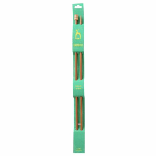 Pony Bamboo 33cm x 5mm Knitting Needles