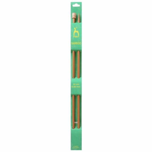 Pony Bamboo 33cm x 5.5mm Knitting Needles