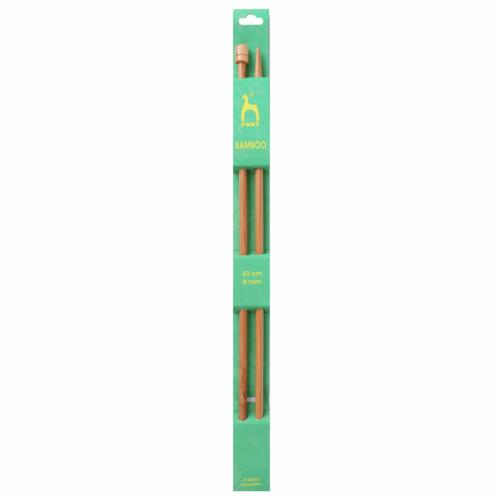 Pony Bamboo 33cm x 6mm Knitting Needles