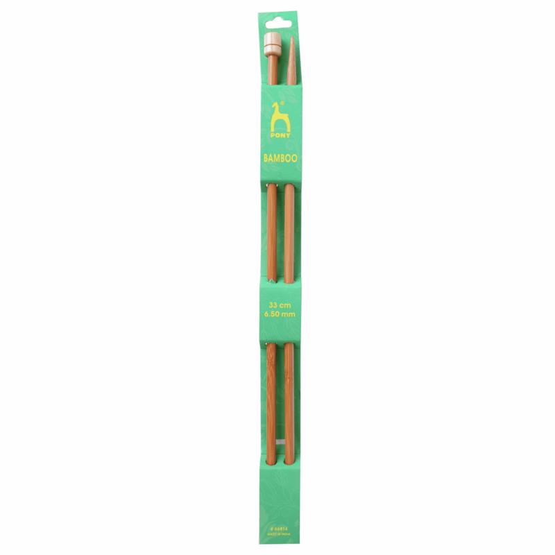 Pony Bamboo 33cm x 6.5mm Knitting Needles