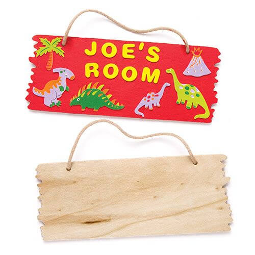 Wooden Hanging Plaque Kit - Dinosaur