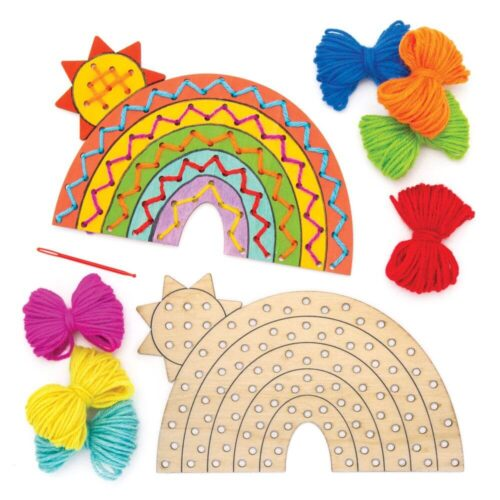 Rainbow Wooden Threading Kit