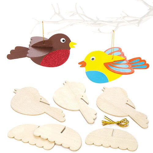 Wooden 3D Bird Decoration Kit