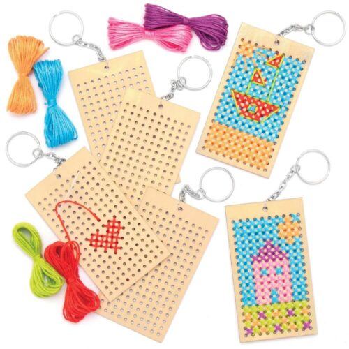 Wooden Keyring Cross Stitch Kit