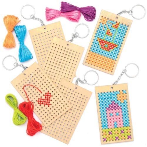 Wooden Keyring Cross Stitch Kit