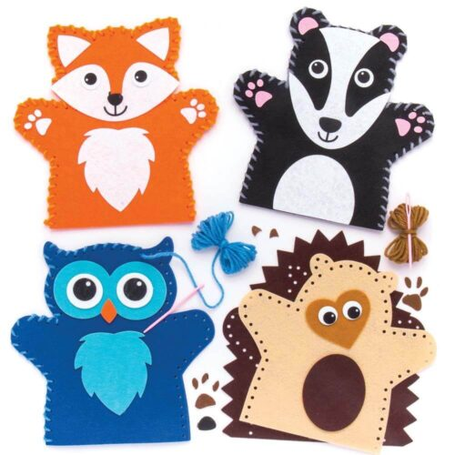 Woodland Animal Hand Puppet Kit - Owl