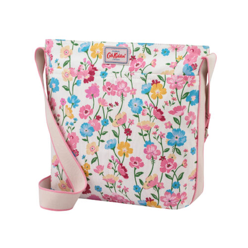 Cath Kidston Park Meadow Cream Zip Messenger Cross Body Bag