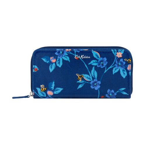 Cath Kidston Greenwich Flowers Continental Zip Wallet