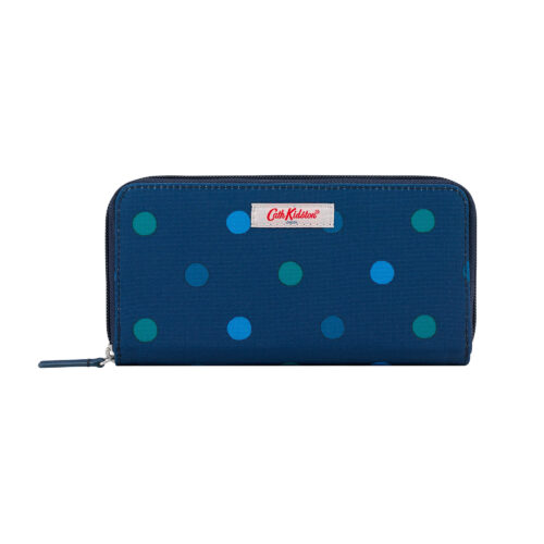 Cath Kidston Power Spot Recycled Continental Zip Wallet