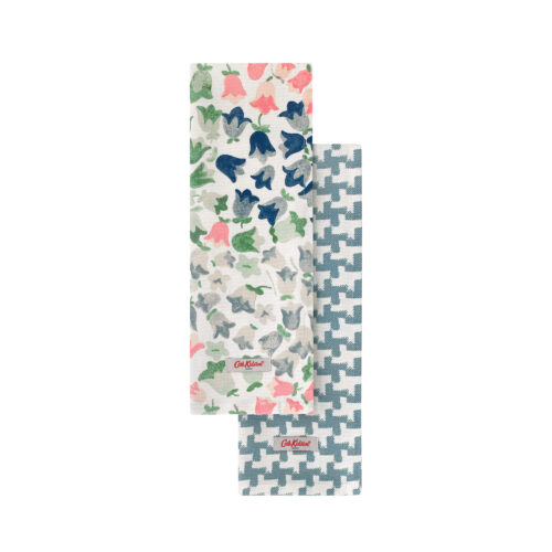 Cath Kidston Painted Bluebell Set of Two Tea Towels