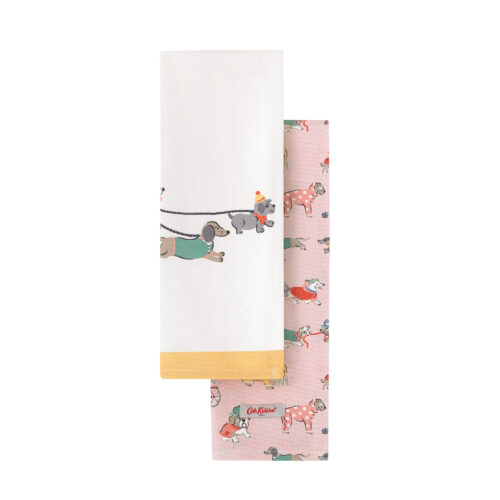 Cath Kidston Greenwich Flowers Set of Two Tea Towels