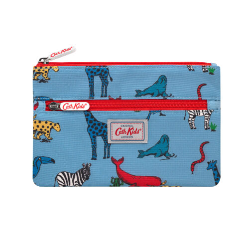 Cath Kidston Animals Kids Double Zip Pencil Case