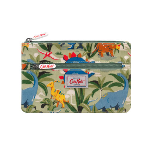 Cath Kidston Dinosaur Jungle Double Zip Pencil Case