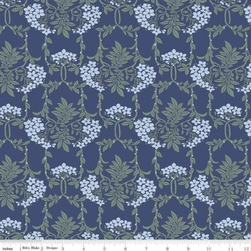 Liberty Fabrics - Hesketh House: Nouveau Mayflower Blue - £15 per metre