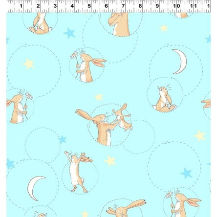 Guess How Much I love You: Blue Bubble Cotton Fabric - £14 per metre