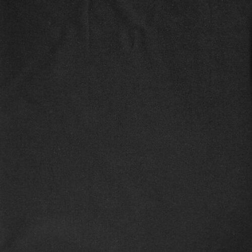 Plain Dyed Cotton Spandex Jersey - Black: £8 per metre