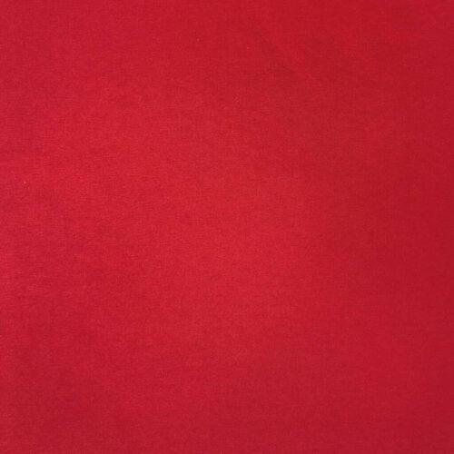 Plain Dyed Cotton Spandex Jersey - Red: £8 per metre