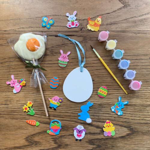 Misco's Chocolate Lolly & Ceramic Easter Egg Decoration Craft Kit