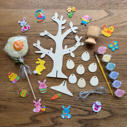 Misco's Chocolate Lolly, Wooden Easter Tree & Egg Cup Craft Kit