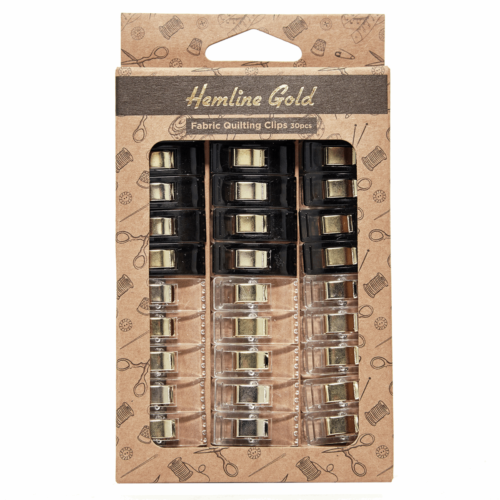 Hemline Gold Quilters Clips: Small: 30 Pieces