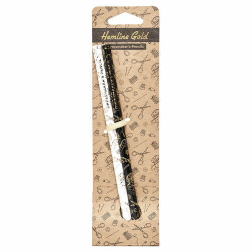 Hemline Gold Dressmakers Water Soluble Pencils: Grey and White