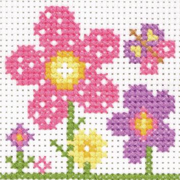 Sarah Flowers 1st Cross Stitch Kit