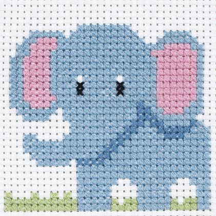 Elephant 1st Cross Stitch Kit