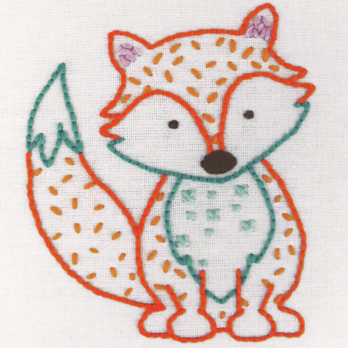 Fox 1st Embroidery Kit